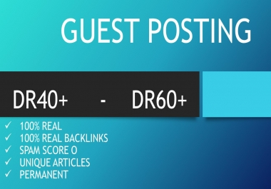 Rank Your Site with Guest posts 1000% Real Backlinks