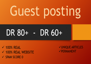 Rank Your Site with Guest posts 110% Real backlinks