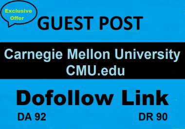 Write & Guest Post On Carnegie Mellon University CMU.edu DA 92