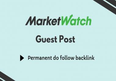 Guest Post On DA93 High-Authority Website Marketwatch  Marketwatch.com