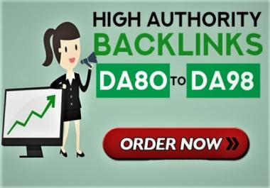 I will provide high authority quality SEO dofollow backlinks