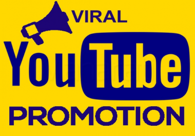 You will get natural youtube video promotion and social media marketing for $5