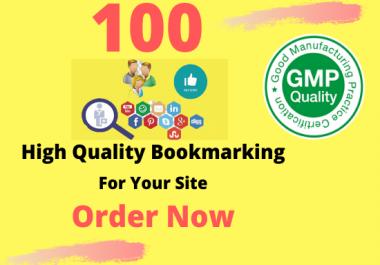 I will manually 100 bookmark submission backlinks, high pa da cf tf