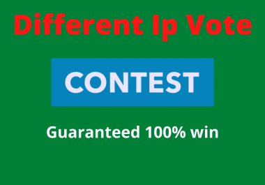 Get 200 Different ip votes on your online poll voting contest