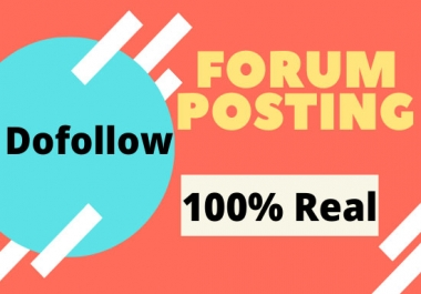 15 High Quality Niche Relevant Forum Posting For You.