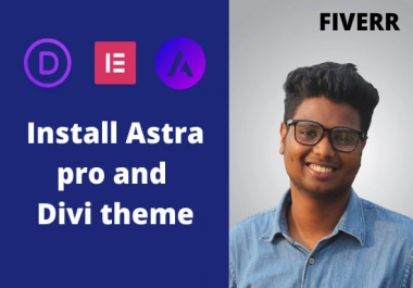 I will install on your WordPress website Astra pro bundle and Divi theme pack lifetime access