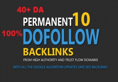 Build 10+ Backlink with high DA=PA ,100% DOFOLLOW with Unique websitelink