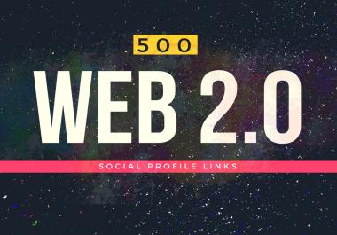 500 Web 2.0 Profile Backlinks On High Authority Sites