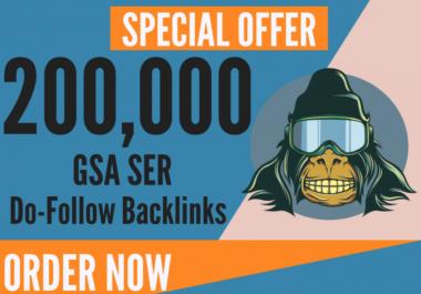 200,000 GSA Ser, Quality Backlinks For Seo Rankings