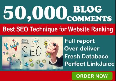 I Will 50,000 GSA Blog Comments Backlinks For Google SEO