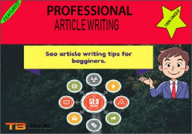 I will write original SEO articles in english language for your blog writing,content writing.