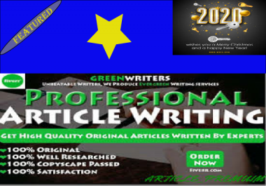 Do 2000 words SEO article writing, blog writing, content writing