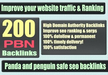 Build 200+ WEB 2.0 PBN Backlink with Permanent Dofollow & High DA PA TF CF