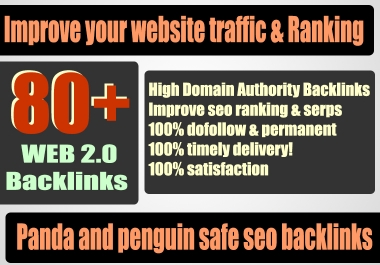 Build 80+ Backlink with high DA 35+ PA 40+, DOFOLLOW with 40+ Unique websitelink