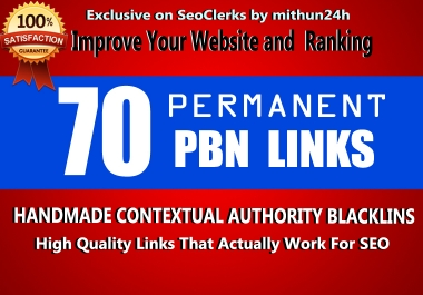 build Web2.0 Backlinks at 70 platforms necessary for perfect SEO
