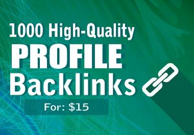 I will provide you 1000 Web 2.0 High Quality Profile backlinks- Rank fast