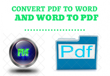 I will Convert Pdf Into Word And Word Into PDF File