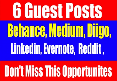 Publish 6 Guest post On. High DA-90+ websites Boost your SEO Ranking