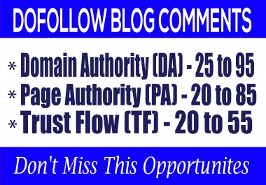 Do 40 Dofollow Blog Comments on High Quality Blogs
