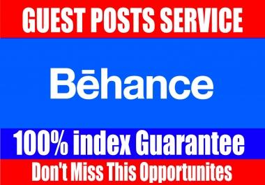 Publish Guest Post on, Behance High DA 90+
