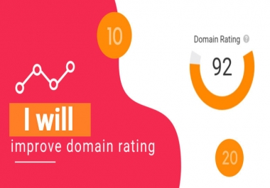 I will increase domain rating DR ahrefs domain rating 60 plus