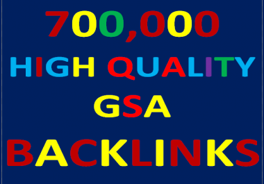 700K GSA Backlinks for whitehat seo to rank your page,website,videos