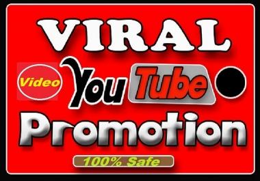 Do fast Organic YouTube video promotion via social media marketing