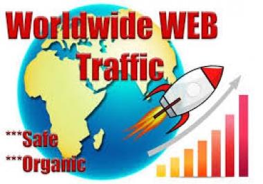 120,000 worldwide dsence safe raffic form traffic YouTube,Twitter,Linkedin,instagram