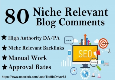 I will Do 80 Niche Relevant No Follow Blog Comments