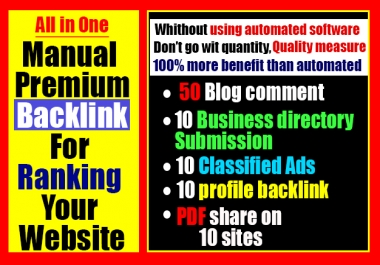 Best manual seo Backlink guaranty package 2020