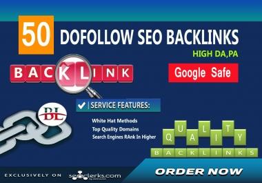 create premium high quality 50 dofollow SEO backlinks