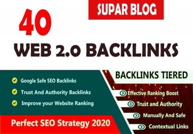 do 40 web 2 0 backlinks, 1300 tier2 SEO backlinks link building