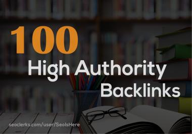 I will Build 100 High Authority Powerful Backlinks Seo Link Buiilding