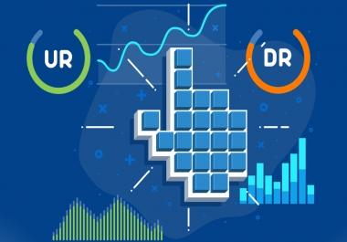 I Create 25 High Domain Rating DR And High URL Rating UR Backlinks