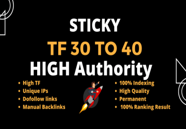 Get 10 High TF CF Permanent Homepage Dofollow PBN Backlinks For Google Raking