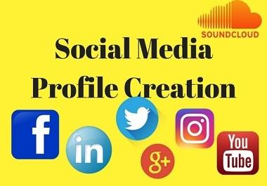 I will setup 30 social profiles or profile creations high DA,PA backlinks.