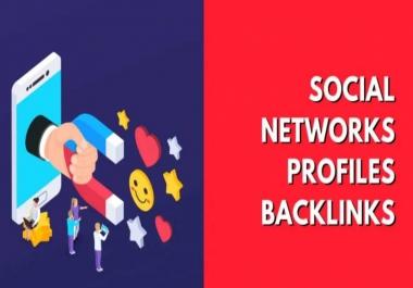 100 High DA Social networks profiles backlinks