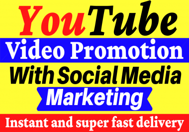 YouTube Video Promotion with Social Media Marketing Non Drop Guaranteed
