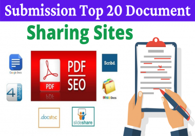 20 Manual PDF Submission on Top Document Sharing Sites With 4shared Scribd Docstoc Slideshare Etc