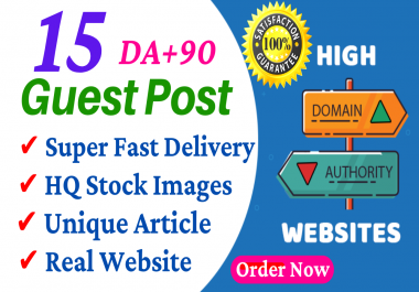 Write And Publish Guest Post On 15 Websites DA 95, PA 80 With Free Google Indexing