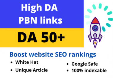 I will build da 50 plus homepage dofollow backlinks for off page SEO