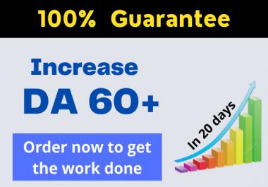 I will increase moz domain authority da pa 30 plus guaranteed