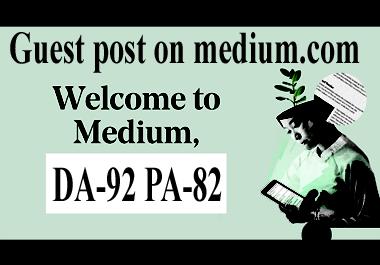 guest post on medium.com hi DA site with 5 hours google index