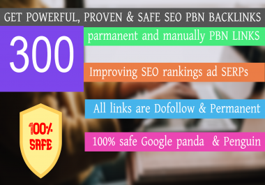 Get 300+ parmanent backlink with 50+ DA 50+ PA in your hompage withg unique website
