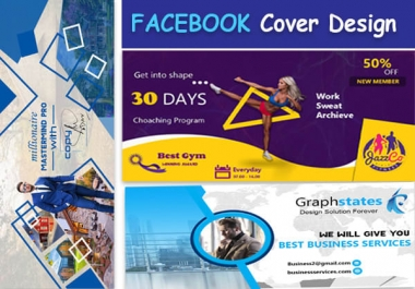 I will design 3 eye catching, attractive and professional facebook cover