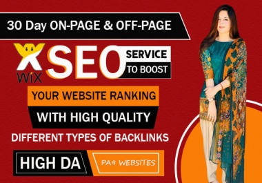 I will provide complete wix SEO with high quality backlinks for top google ranking