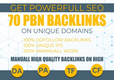 DO 70 PBN HIGH QUALITY DOFOLLOW BACKLINKS FOR WEBSITE RANKING