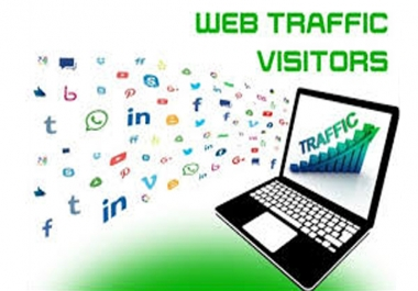 Real organic traffic daily 100+ visitors to your site via social networks for 30 days none stop