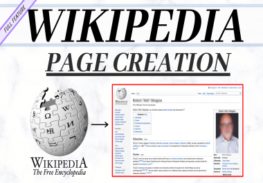 Create approved Wikipedia page biography for individua or company