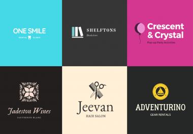 I will design 2 creative unique logos for your brand